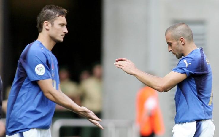 Una staffetta tra Totti e Del Piero in Nazionale