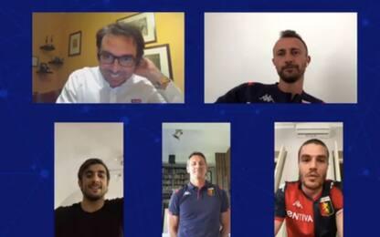 Genoa, lo smart working di Perin e Favilli. VIDEO