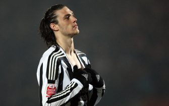 Newcastle United's Andy Carroll in action against Doncaster Rovers