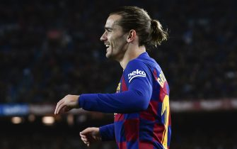 Antoine Griezmann of FC Barcelona celebrates his goal during the match FC Barcelona v RCD Mallorca, of LaLiga, 2019/2020 season, date 16. Camp Nou Stadium. Barcelona, Spain, 07 DEC 2019.