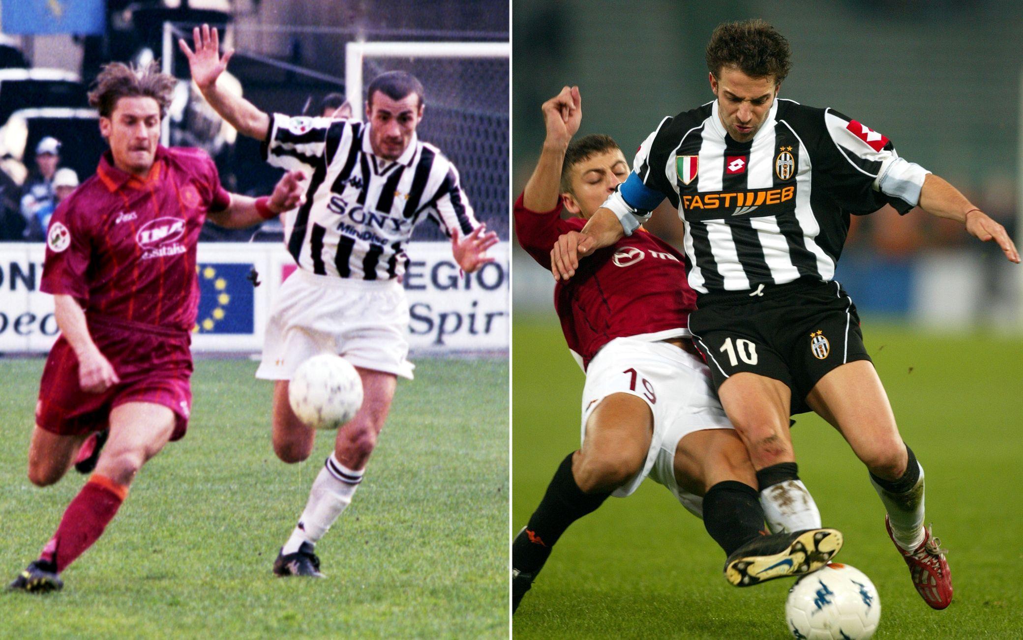 I duelli incrociati tra Totti-Montero e Del Piero-Samuel