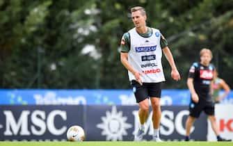Allenamento SSC Napoli - Ritiro pre-campionato di calcio Serie A