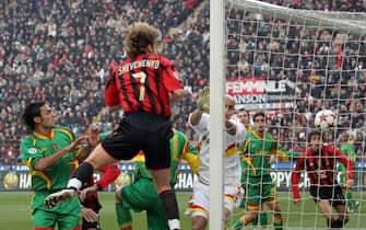 ©Marco Lussoso / LaPresse06-01-2005 MilanoSport CalcioMilan Lecce campionato serie A 2004 2005Nella foto Gol di Shevchenko