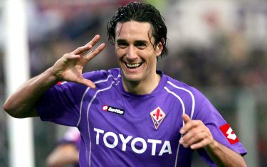 firenze 20/11/2005 fiorentina milan goal del 3 a 1di luca toni ansa carlo ferraro