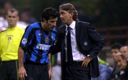 """Figo: """"Io umiliato da Mancini ai tempi dell'Inter"""""""