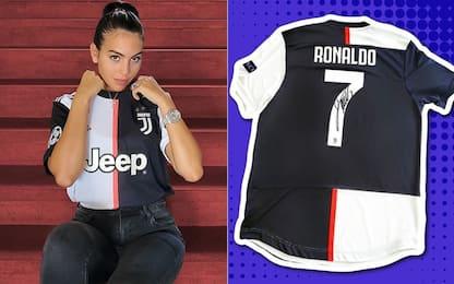 Georgina, maglia di CR7 all'asta per la Spagna