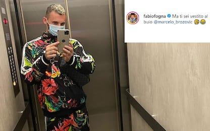 """Fognini scherza Brozovic: """"Vestito al buio?"""""""