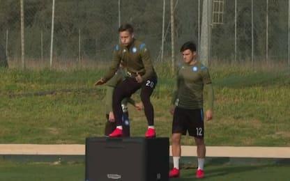 Napoli, Elmas e Zielinski tornano ad allenarsi