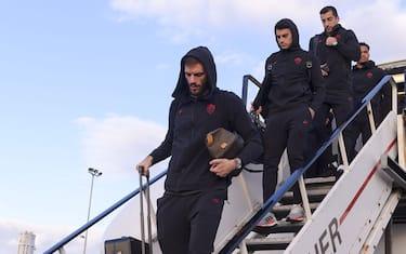 AS Roma, la squadra in partenza per la trasferta di Gent