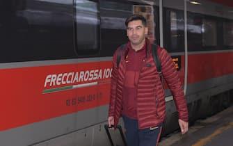 AS Roma, la squadra in viaggio per Firenze