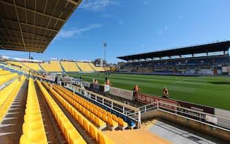 The Ennio Tardini stadium without audience prior the Italian Serie A soccer match Parma Calcio vs S.P.A.L in Parma, Italy, 08 March 2020. ANSA / ELISABETTA BARACCHI