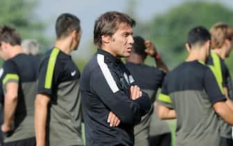 Juventus trainer Antonio Conte during the team training in Vinovo, Torino, 01 October 2012.ANSA/ALESSANDRO DI MARCO