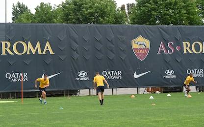Roma, allenamenti di gruppo e prove di difesa a 3
