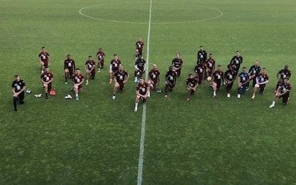 Torino, l'omaggio per George Floyd. FOTO