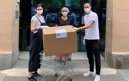 Bonucci, consegnate con la moglie prime mascherine
