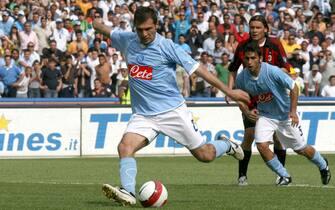 © Francesco Pecoraro - LaPresse Napoli 11-05-2008Sport Calcio Napoli - Milan Campionato TIM Serie A 2007/08Nella foto: il gol di domizzi del 2-0