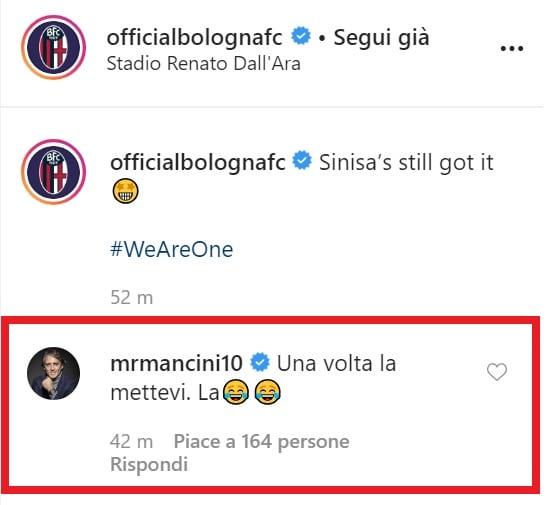 Commento Mancini (Instagram)