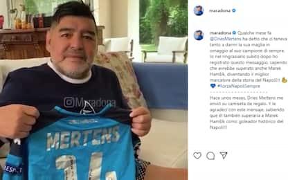 """Maradona a Mertens: """"Orgoglioso, ora lo scudetto"""""""