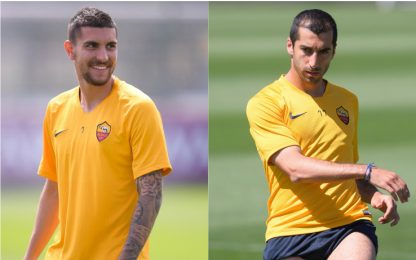 Sorrisi a Roma, Pellegrini e Mkhitaryan in gruppo