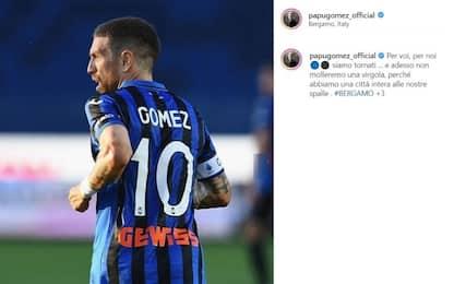 """Gomez scrive a Bergamo: """"Siamo tornati per voi"""""""