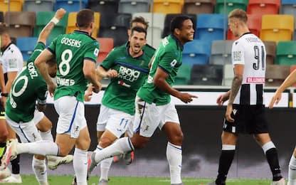 La Dea sbanca Udine. Vince il Bologna, pari Verona