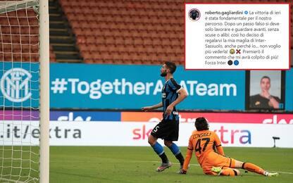 Gagliardini regala la maglia di Inter-Sassuolo