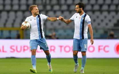 Immobile-Parolo lanciano la Lazio: Toro ko 2-1