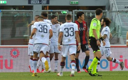 Simeone risponde a Barrow: Bologna-Cagliari è 1-1