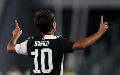 Juve-Torino 1-0 LIVE: subito Dybala dopo 3'
