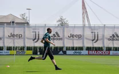 Chiellini e Alex Sandro in gruppo: obiettivo Milan