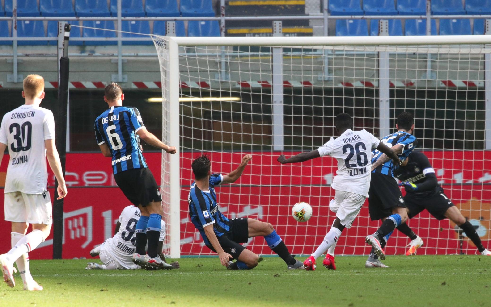 Il gol di Juwara contro l'Inter