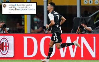 """Cristiano Ronaldo: """"Ora testa alta e lavorare"""""""