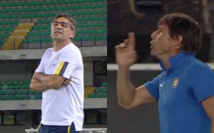 Conte-Juric, battibecco nel primo tempo. VIDEO