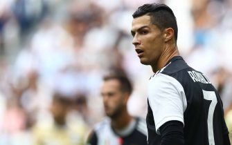 TURIN, ITALY - SEPTEMBER 28:  Cristiano Ronaldo of Juventus looks on during  the Serie A match between Juventus and SPAL at Allianz Stadium on September 29, 2019 in Turin, Italy.  (Photo by Marco Luzzani/Getty Images)