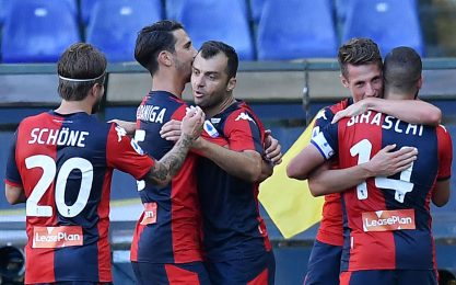 Pandev-Schone, punti salvezza Genoa: 2-0 alla Spal