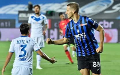 Tripletta Pasalic, show Atalanta: 6-2 al Brescia