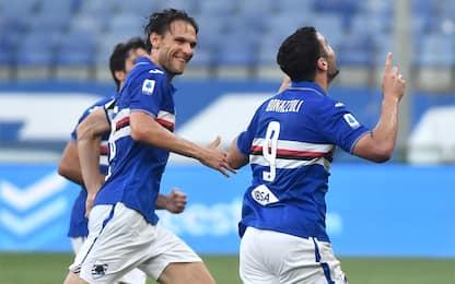 Bonazzoli show, la Samp batte il Cagliari 3-0