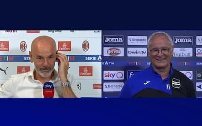 """Ranieri a Pioli: """"Grande lavoro, non mollare"""""""