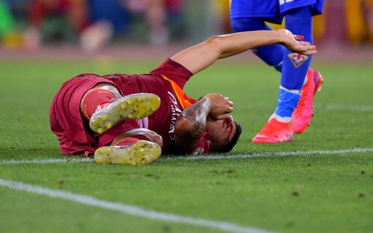 Roma, frattura nasale per Pellegrini: domani verrà operato