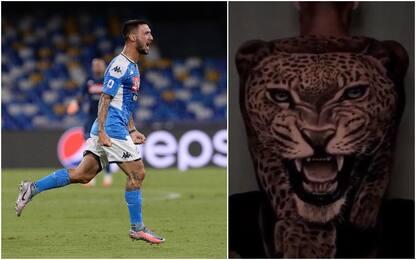 Politano, un ghepardo tatuato sulla schiena. VIDEO