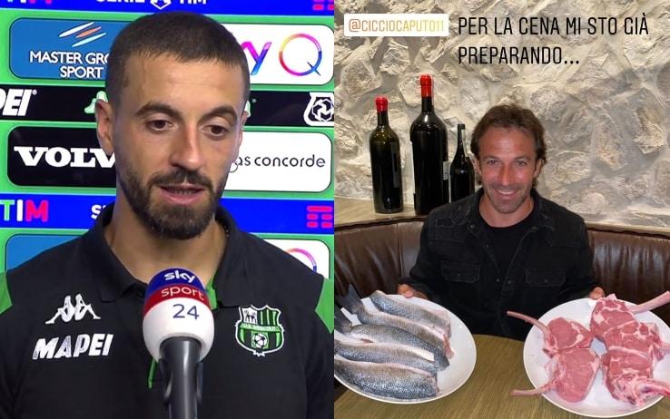 Caputo a 21 gol, vinta la scommessa con Del Piero. E Alex risponde ...