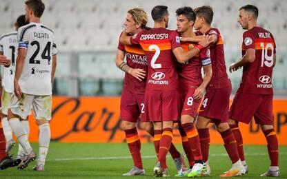 La Roma passa all'Allianz Stadium: Juve ko 3-1