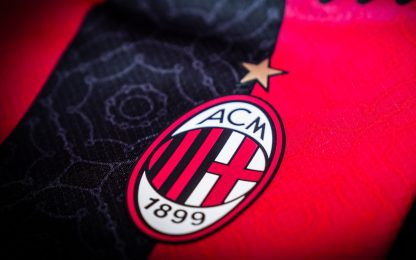 Milan in campo con la nuova maglia 2020-21. FOTO