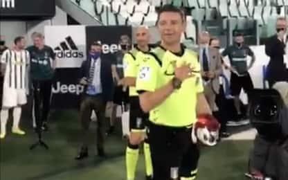 Arbitro Rocchi, il discorso dopo l'ultima partita