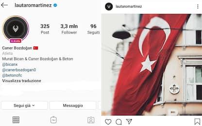 Lautaro hackerato: spunta la bandiera turca