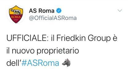 Roma, Friedkin Group è il nuovo proprietario