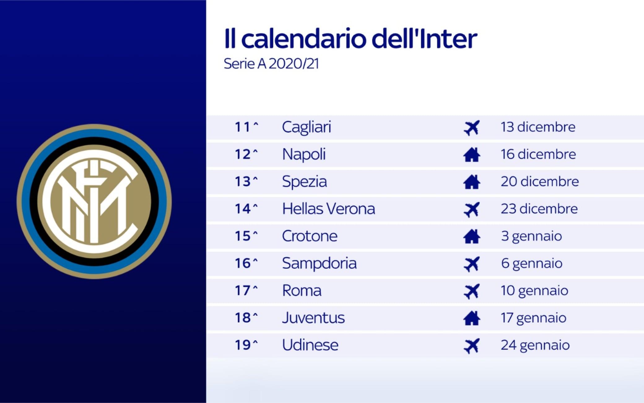 Calendario Inter 11-19