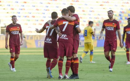 Roma, un altro poker: Frosinone battuto 4-1