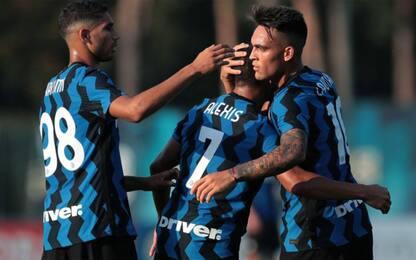 Inter show all'esordio: battuto 5-0 il Lugano