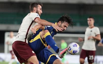 Verona-Roma 0-0 LIVE: panchina Dzeko, Pedro dal 1'